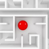 stock-photo-red-sphere-in-labyrinth-exit